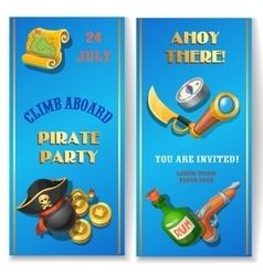 Pirate party invitation royalty free vector image pirate party cartoon invitation card or banners vector image stopboris Gallery