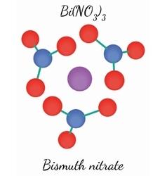 Bismuth nitrate BiN3O9 molecule vector image vector image