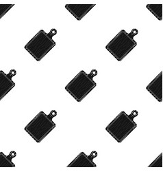 cutting boardbbq single icon in black style vector image vector image