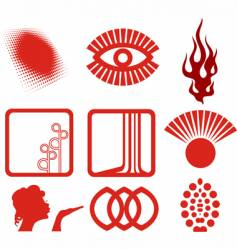 decorative composition vector image vector image