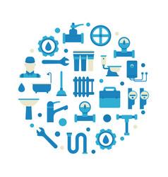 plumbing repair and service vector image