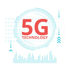 5g technology web banner template vector