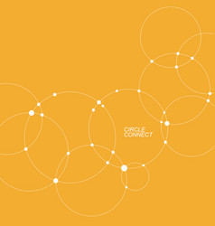 abstract background with overlapping circles vector image