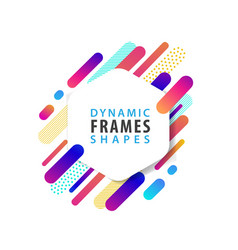 abstract hexagonal frames with dynamic shape vector image