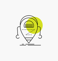 android beta droid robot technology line icon vector image
