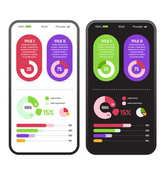 application with infographics elements and vector image