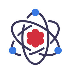 atom electrons rotating in orbits around atomic vector image