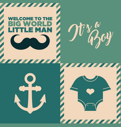 Baby shower invitation cards vector