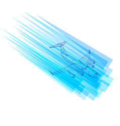background with flying plane logo with the vector image