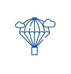 balloon line icon concept balloon flat vector image