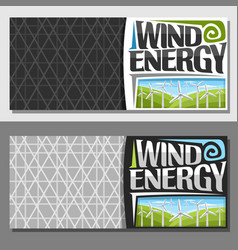 banners for wind energy vector image