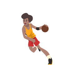 basketball player athlete in uniform running with vector image