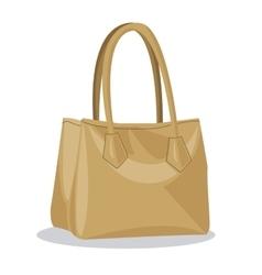 Beige purse lady fashion style vector