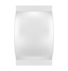 Blank White Bag Packaging For Wipes Tissues or vector