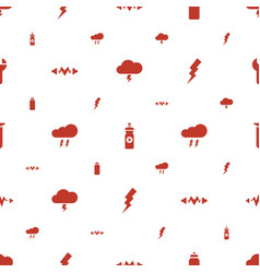 Bolt icons pattern seamless white background vector