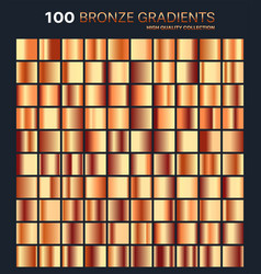 Bronze gradientpatterntemplateset of colors for vector