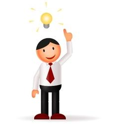 Businessman cartoon and idea vector