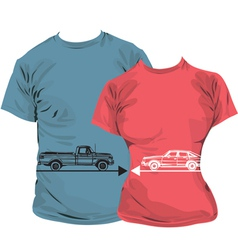 Car T-shirt vector