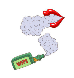 cartoon vaping objects concept set vector image