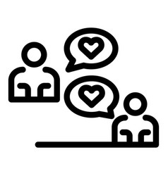 Chat affection icon outline style vector