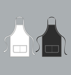 Chef apron black white culinary aprons vector