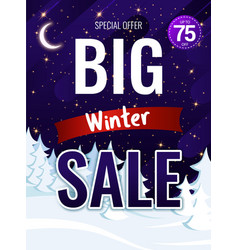 christmas poster with discounts to advertise vector image