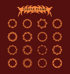 circle decorative flame collection set vector image