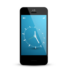 clock on mobile phone screen vector image