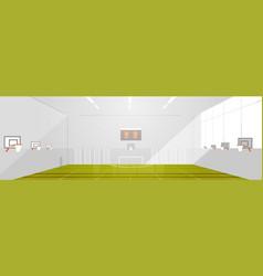 college or school gym empty no people modern sport vector image