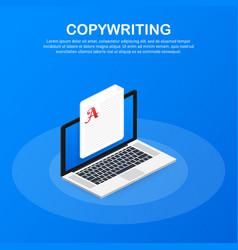concept for copywriting content development vector image