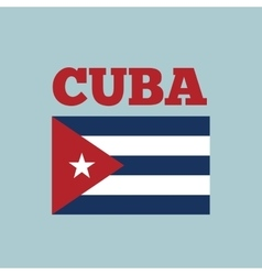 cuba country flag vector image