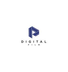 Digital film logo design initial d logo d vector