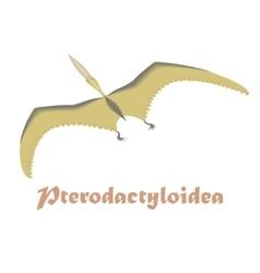 Dinosaur pterodactyloidea vector