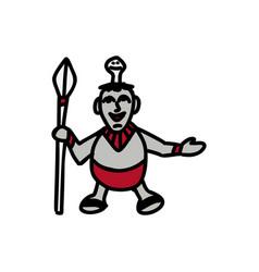 doll cartoon icon vector image