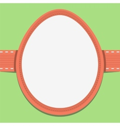 Easter card template in the frame of eggs vector image
