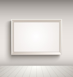 Empty advertising board on the wall template vector
