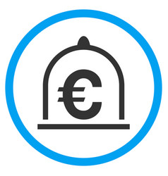 Euro standard rounded icon vector