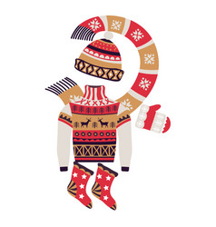 fairaisle knitwear and christmas winter vector image