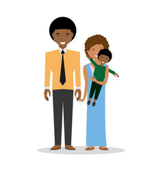 Family couple carrye son childhood vector