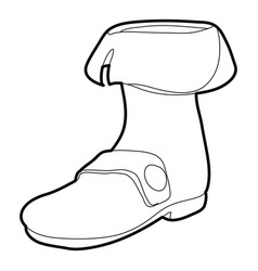 Footwear icon outline vector
