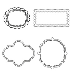 Frame labels Set ornamental vintage decoration vector