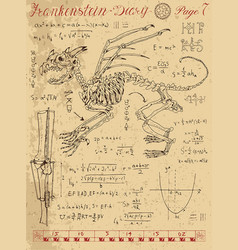 Frankentsein diary with fantasy monster vector