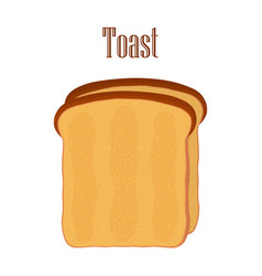 fried bread toast breakfast made in flat style vector image