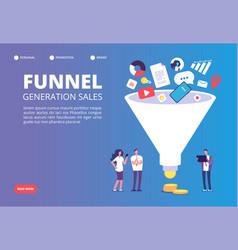 Funnel sale generation digital marketing vector