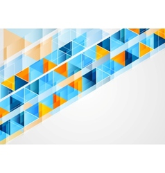 graphic of geometric bright triangles vector image