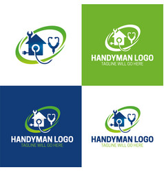 Handyman icon and logo vector