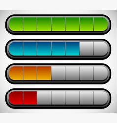Horizontal progress loading bars meters level vector