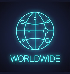 international route map neon light icon vector image