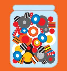 Jar of candy vector
