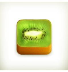 Kiwi app icon vector